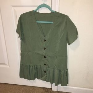 Button down blouse from SHEIN